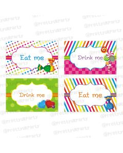 Candy Shoppe Food Labels / Buffet Table Cards