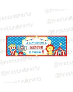 Personalized Carnival Birthday Banner 36in
