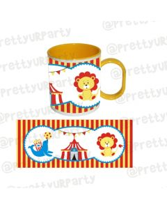 Personalised Inside Colour Carnival Mug