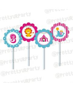 girly carnival cupcake / food toppers