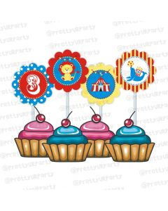 carnival cupcake / food toppers
