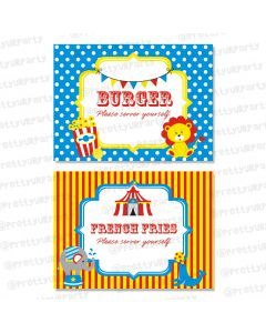carnival food labels / buffet table cards