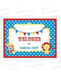 carnival entrance banner / door sign