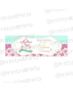 Personalized Carousel Birthday Banner 36in