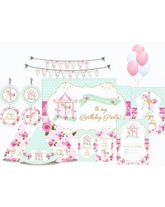 Carousel Party Decorations - 90 Pieces
