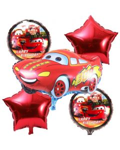 Cars Foil Balloon - Pack of 5