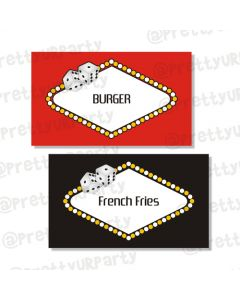 casino food labels / buffet table cards