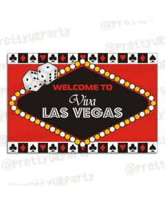 Casino themed entrance banner / door sign