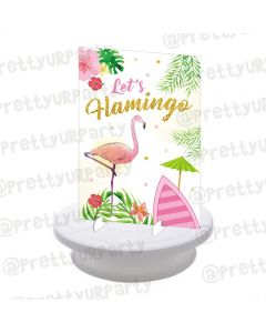 Flamingo Theme Centerpieces