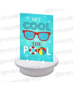 Splash Pool Party Theme Centerpieces