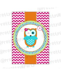 Girly Owl Centerpieces