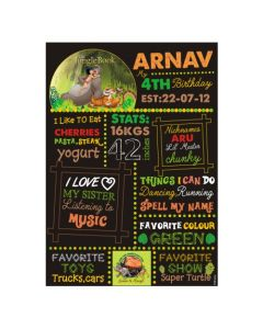 Jungle Book Chalkboard Poster