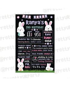 Some Bunny is One theme Chalkboard Poster