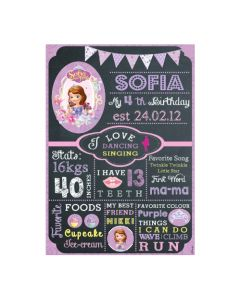 Sofia the first Enchanted Garden Party Chalkboard Poster