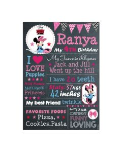 Minnie Mouse Chalkboard Poster