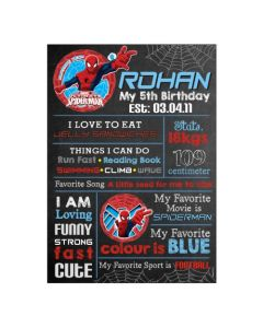 Spiderman Chalkboard Poster