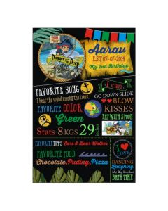 Captain Jake and the Neverland Chalkboard Poster