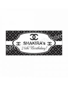 Personalized Chanel Theme Banner 30in