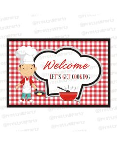 Chef themed entrance banner/door sign