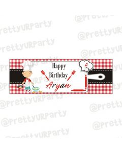Personalised little chef Banner