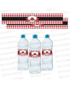 Little Chef Water Bottle Labels