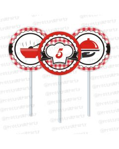 Little Chef Cupcake / Food Toppers