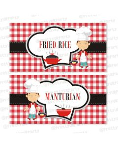 Little Chef Food Labels / Buffet Table Cards