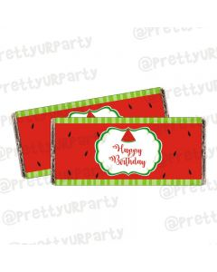 Watermelon Theme Chocolate Wrappers