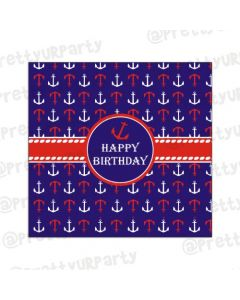 Nautical theme chocolate wrappers