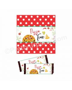 Pizza Party Theme Chocolate Wrappers