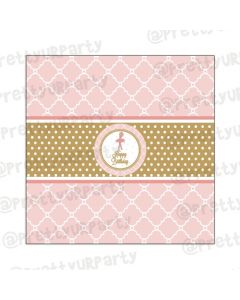 Pink and Gold Ballet Chocolate Wrappers