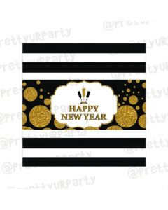 Gold and Black New Year Chocolate Wrappers