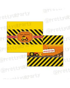 New Construction Theme Chocolate Wrappers
