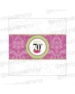 70th Birthday Theme Chocolate Wrappers