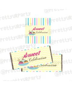 Ice Cream Theme Chocolate Wrappers