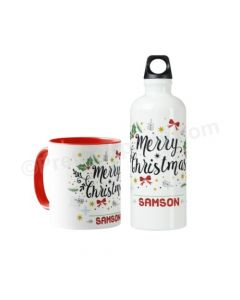 Personalised Christmas Mug Set