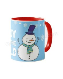 Personalised Christmas Snowman Mug