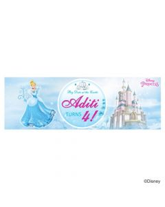 Personalized Disney Cinderella Birthday Banner 36in