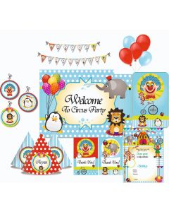 Circus Party Decorations - 90 Pieces