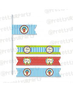 circus theme drink straws