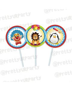 Circus Theme Cupcake / Food Toppers