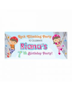 Personalized Climbing Theme Banner 30in