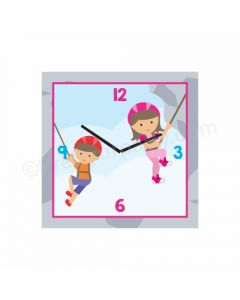 Personalized Climbing Clock - Square