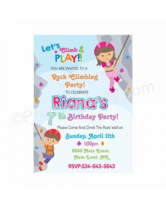 Climbing Theme Invitations