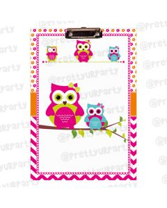 Personalised Girly owl Clipboards