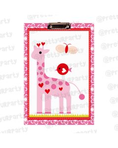 Personalised Girly Giraffe Clipboards