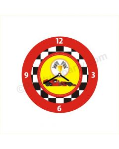 Personalized Race Car Theme Clock - Round
