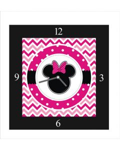 minnie mouse square clock