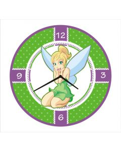 tinker bell round clock