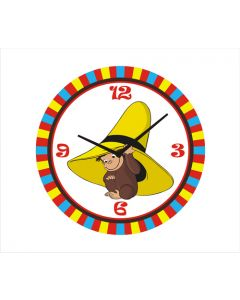 curious george round clock